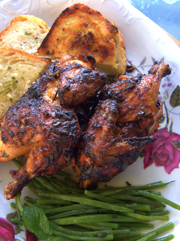 cornish hen en crapaudine
