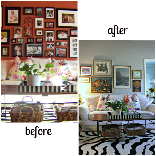 before and after den