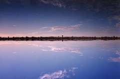 Salt lakes at sunset - Siwa Oasis in the Sahara
