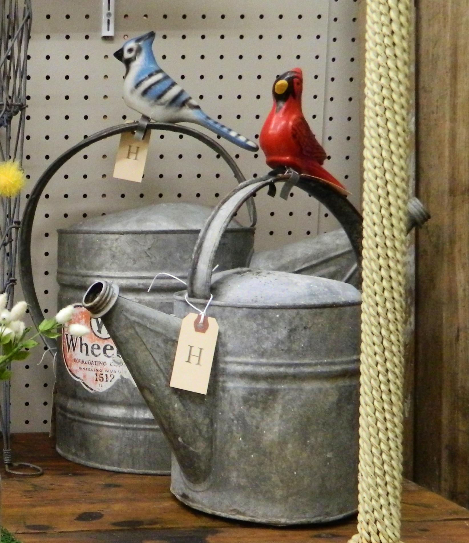 vintage ceramic garden birds