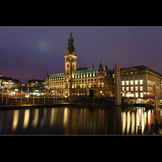 nightfall in Hamburg