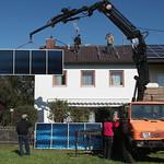 Установка солнечных панелей на частном доме в Германи