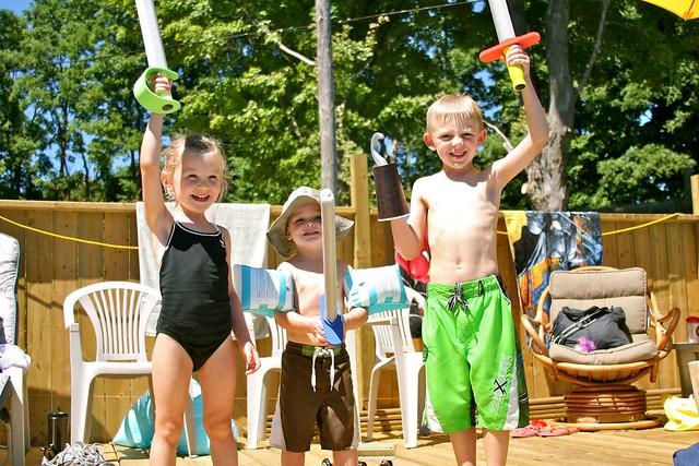 Zoey, Mason, and Liam - Aug. 2012