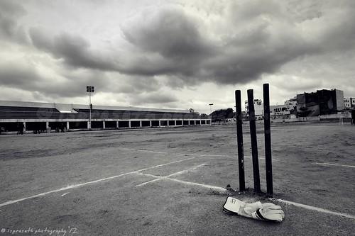 Cricket under monsoon clouds ...