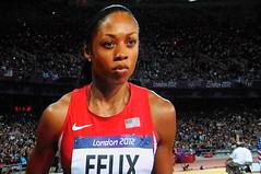 L'américaine Allyson Felix: médaille d'or olympique du 200m à Londres