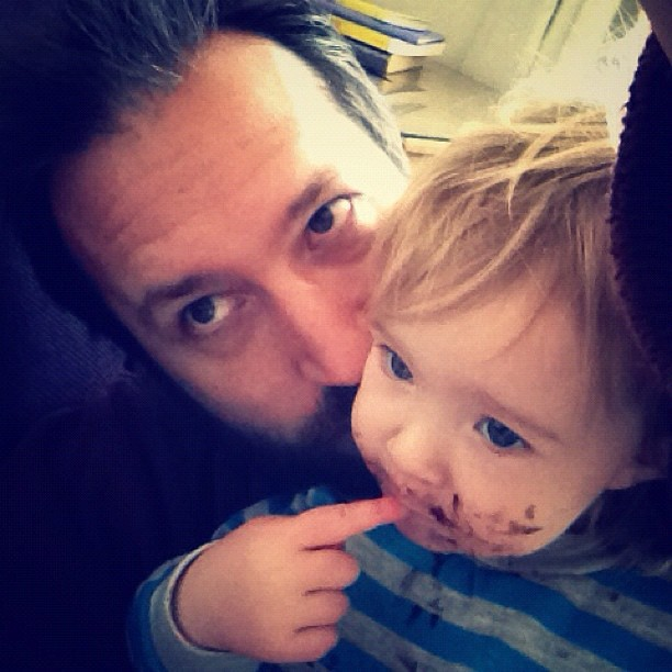 She was covered in chocolate ganache so I ate her. #scrumptious