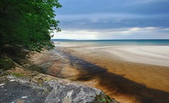 Mouth of the Miners river Pictured Rocks National Lakeshore by Michigan Nut