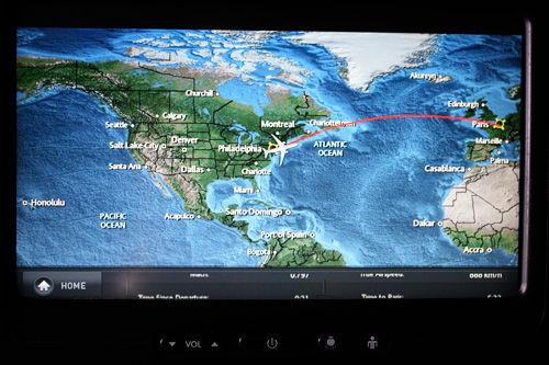 map-on-plane-screen