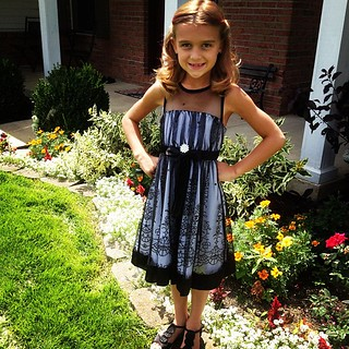 Karli went to a Hollywood Ball (friend's Bday party) today, it was great to get another wear out of her dress!