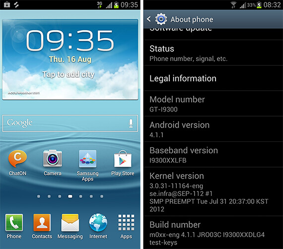 Disponible versión de prueba de Android 4.1.1 para el Galaxy S III