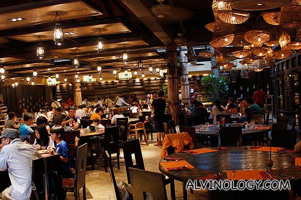 The beautiful Ulu Ulu Restaurant