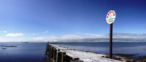 Boardwalks along the Notsuke Peninsula (Hokkaido, Japan)