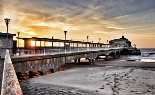 england nature sunrise landscape dawn pier day bournemouth bournemouthpier pwpartlycloudy