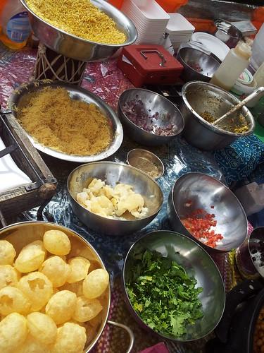Indian street food ingredients