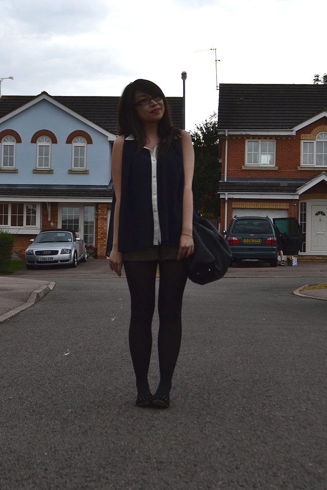 daisybutter - UK Style and Fashion Blog: what i wore, outfit post, wiwt, ootd, lovestruck, forever 21, topshop merlot slippers, zara, AW12