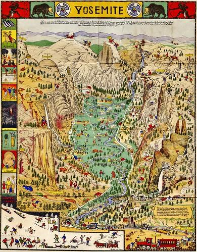Yosemite map, 1931