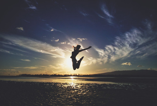 無料写真素材, 人物, 女性, 跳ぶ・ジャンプ, シルエット