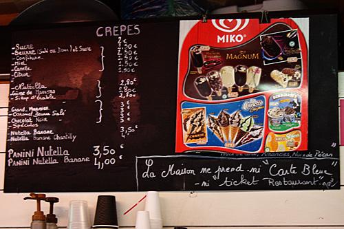 Creperie-menu
