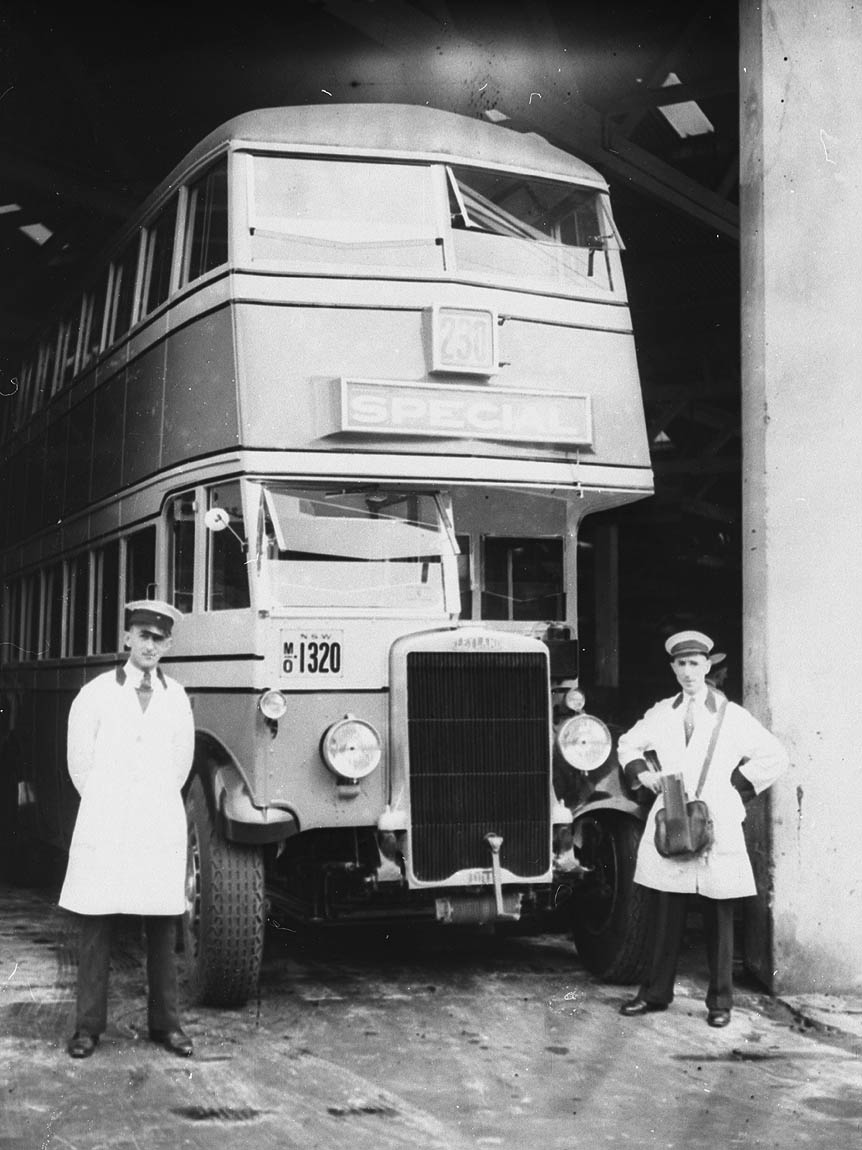 An early Leyland double-deck omnibus, MO 1320, 192- ? /