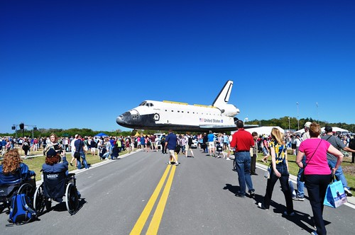 Space Shuttle Atlantis Strikes a Pose, Kennedy Space Center, Nov. 2, 2012