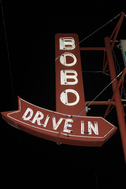 Bobo drive in neon sign flickr photo sharing Places to eat in garden city ks