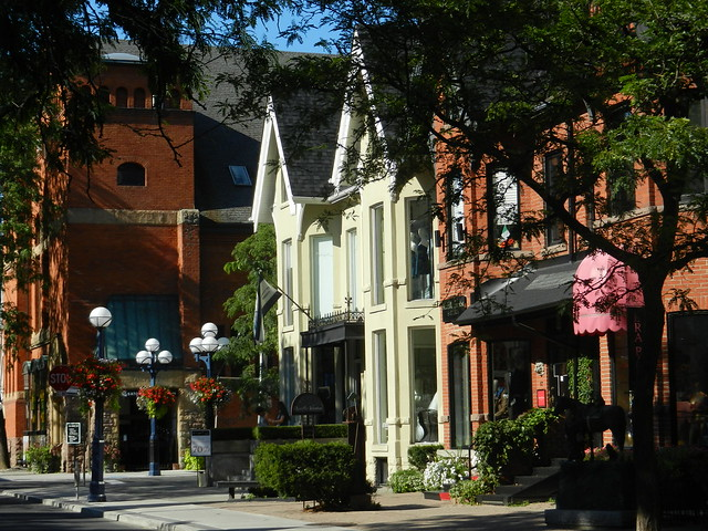 Yorkville Toronto Ontario Canada Street Lamps Lights Victorian Homes Wealth BIA