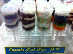 Cupcake push pops at Crumbs Bakeshop by Rachel from Cupcakes Take the Cake