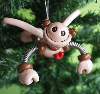 Brown Bax Robot Angel Christmas Ornament