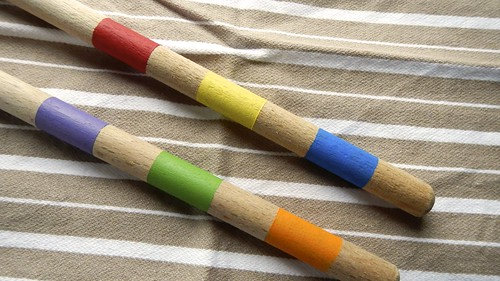 Rainbow Wooden Spoons 8
