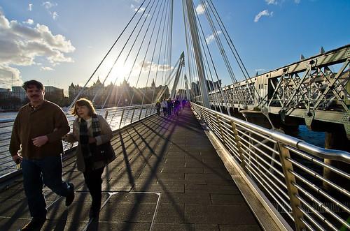 Golden Jubilee Bridge, London, England