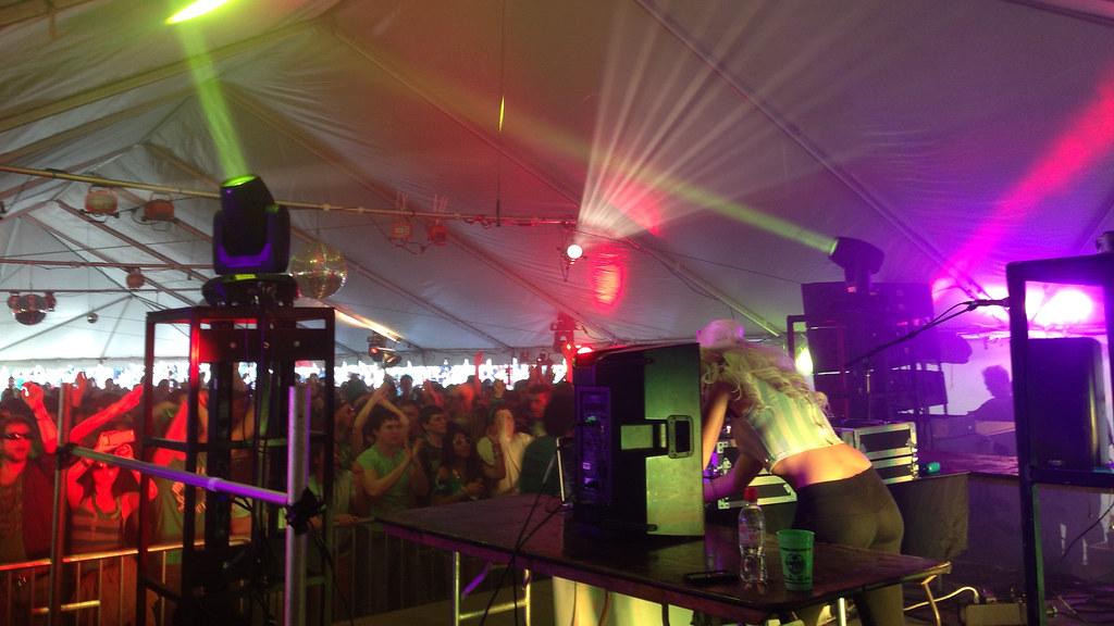 Shamrockfest DJ Tent - Back Stage