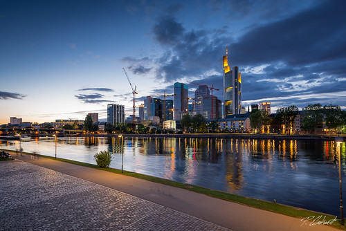 city sunset skyline architecture skyscraper germany nikon cityscape sundown frankfurt main damncool