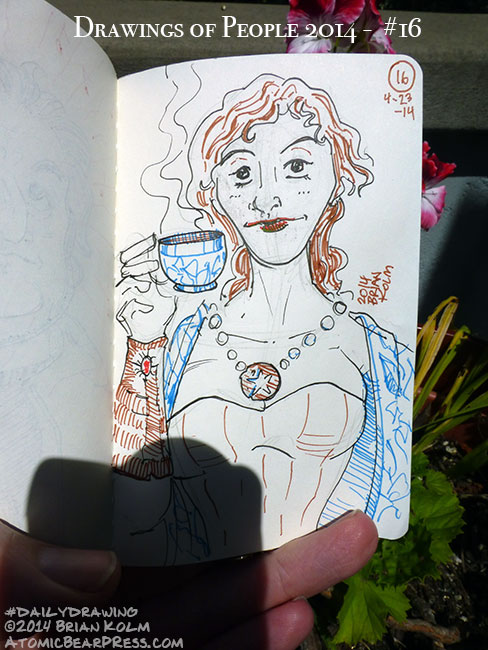 04-23-2014 #dailydrawing #people tea lady