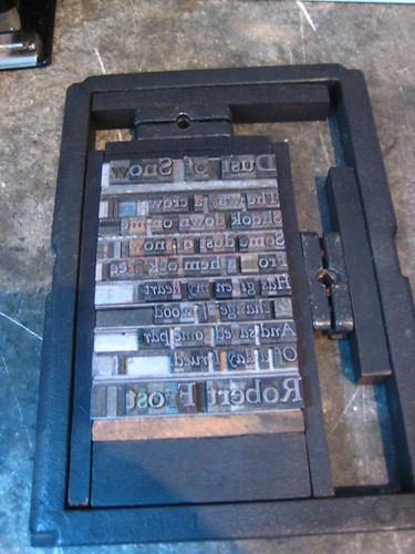 Typesetting! (daily photo, 3/17/12)