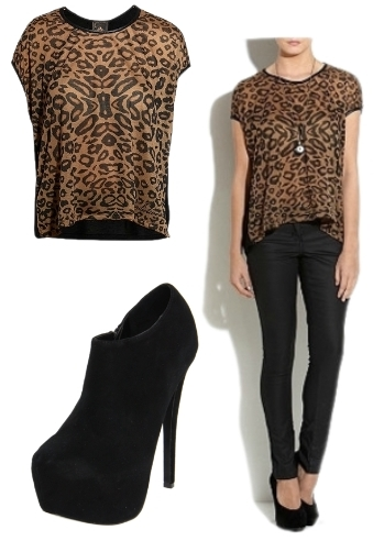 wearing leopard print top
