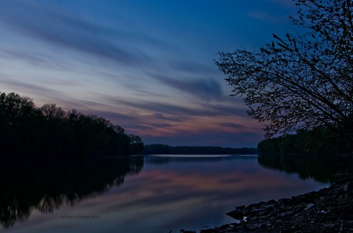 sunset sky reflection clouds reflections river landscape landscapes illinois nikon sunsets mississippiriver nikond7000