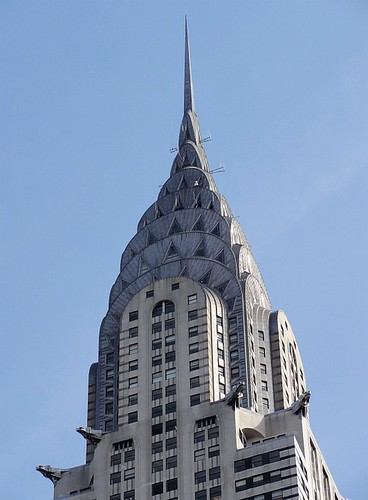 Close Up of the Chrysler Building Roof