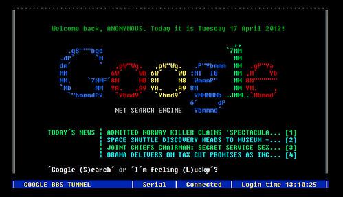 Google BBS Terminal
