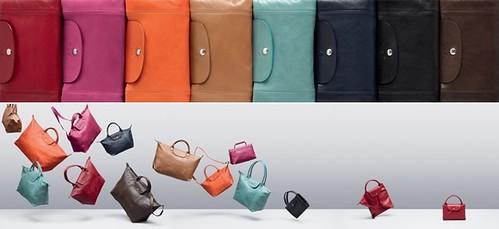 Longchamp 2012 全新羊皮摺疊包Pliage Cuir-1-vert