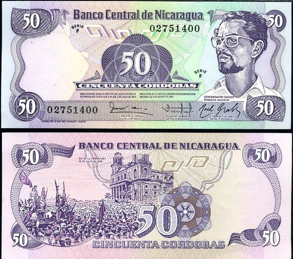50 Córdobas Nikaragua 1984, Pick 140