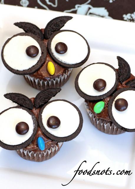 5.5 Food Snots - Owl Cupcakes