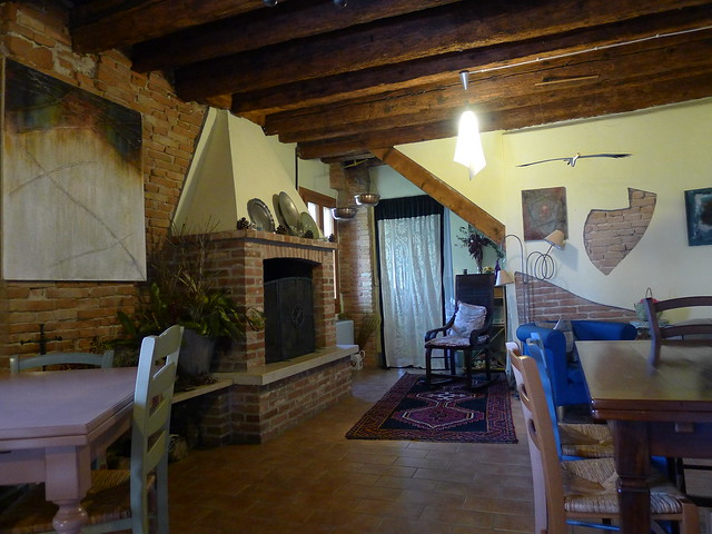 Warm and inviting decor in Corte Ceson agritourism. Tiziano, the owner, is a great guy, too!