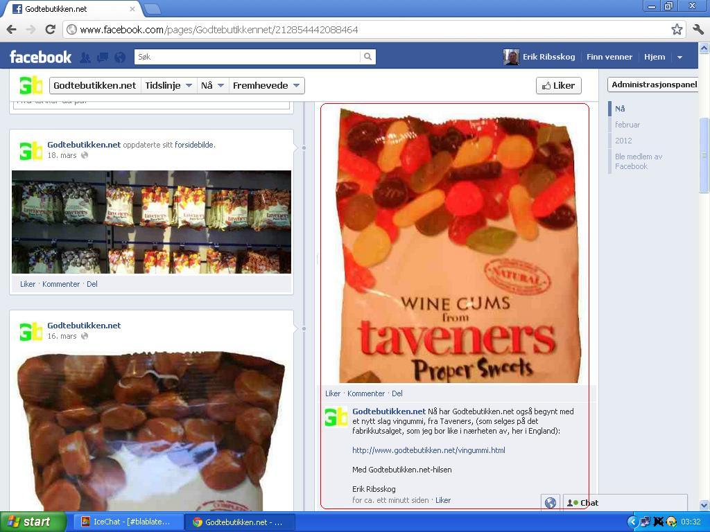 taveners vingummi facebook