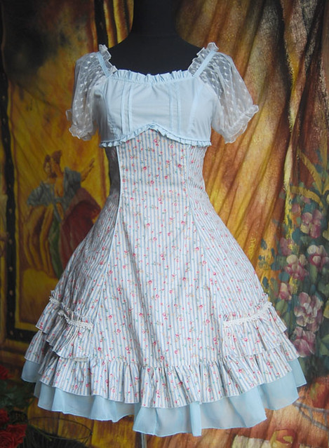 Infanta_Summer_Sail_A_Line_Printed_Cotton_Lolita_Dress