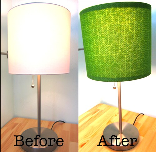 Lamp before after