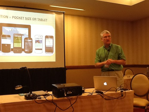 Chris Thompson presenting at Mobile Learning 2012