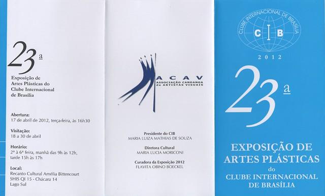 CONVITE 23ª expo CIB 2012 - folder