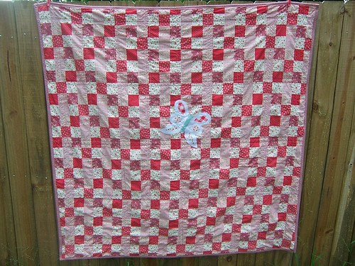 Lakehouse Quilt: Back