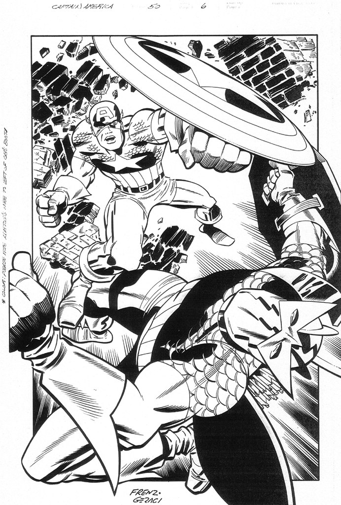 Captain America vs Adaptoid by Ron Frenz and Drew Geraci