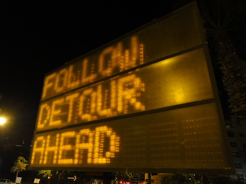 """Follow detour ahead"""